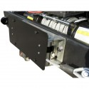 Support plaque immatriculation pour treuil à corde synthetique Jeep Wrangler JK